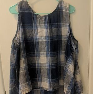 Old Navy Blue Plaid tank